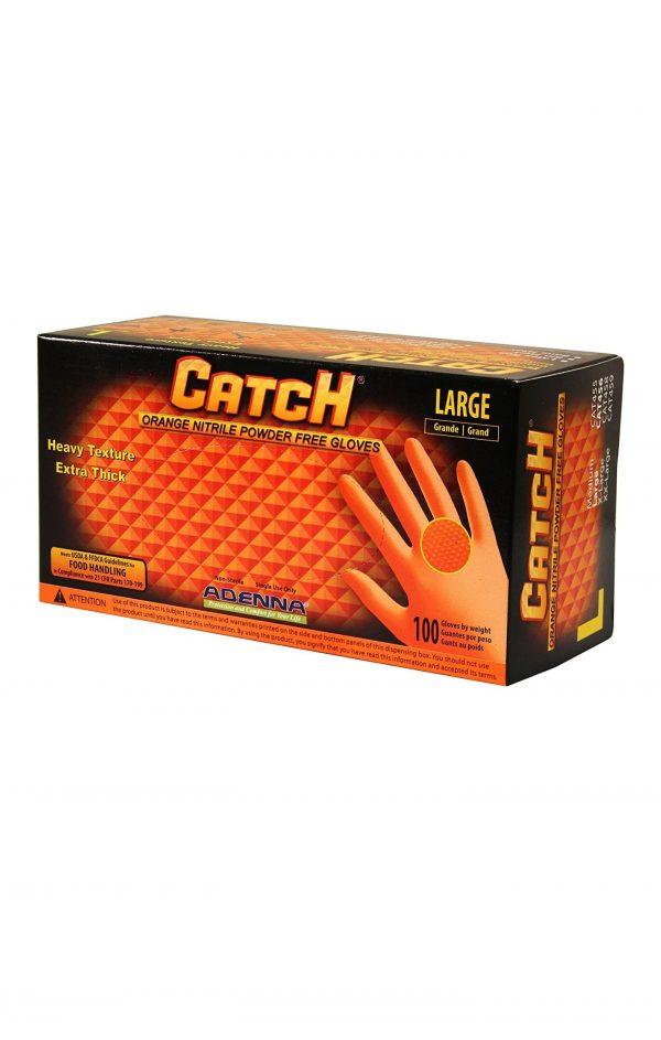 Orange Nitrile Powder Free Gloves