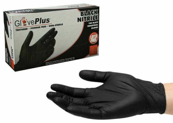 Black Nitrile Industrial Gloves